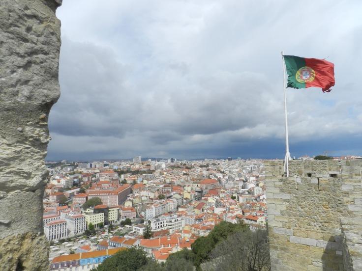 Lisbonne vue du château São Jorge, Portugal