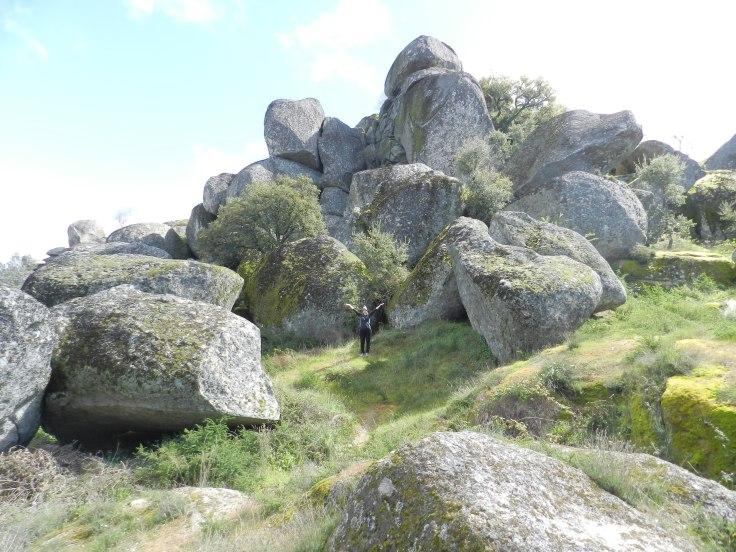 Un échantillonnage des rochers de Monsanto, Portugal