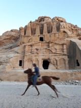 Cheval au galot à Petra - Jordanie