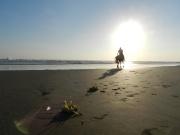 Un cavalier sur la plage, Bali - Indonésie