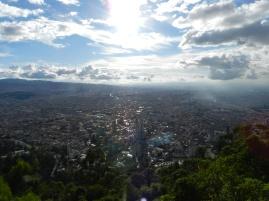 Vue sur Bogotá depuis Monserrate - Colombie