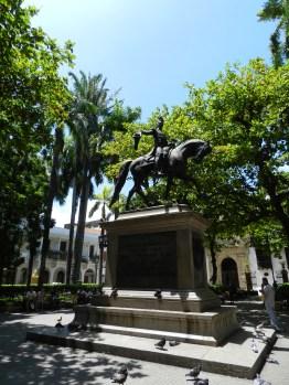 Statue de Simón Bolívar, Carthagène - Colombie